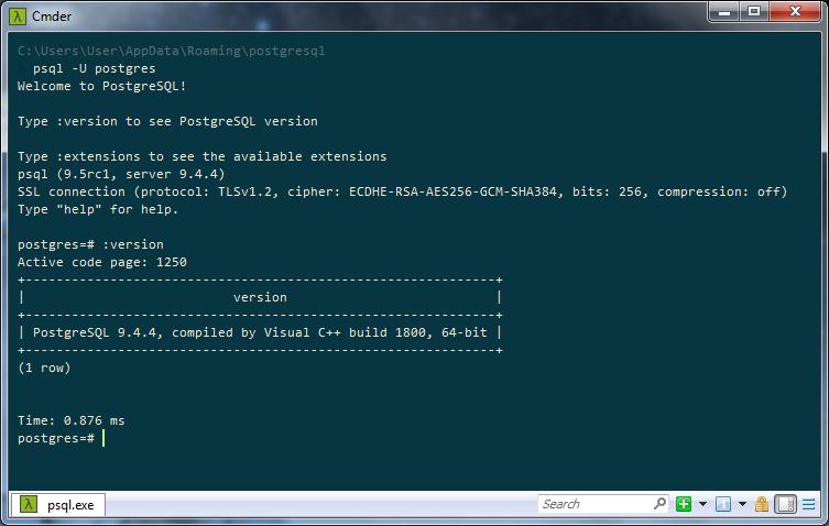 Psql exe command line parameters | psql command line