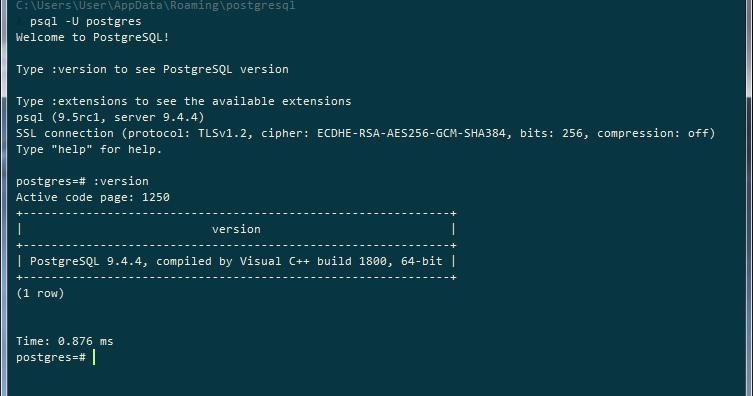 Developer's notebook: psqlrc (psql startup file) in Windows