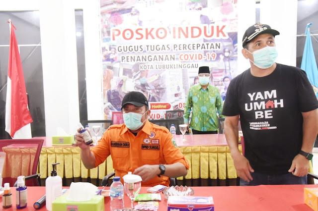 Herman Deru Endorse Hand Sanitizer Berbahan Serai Asli Linggau