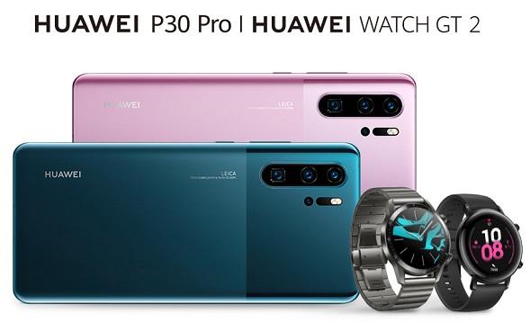 New HUAWEI P30 Pro and HUAWEI Watch GT 2 42mm