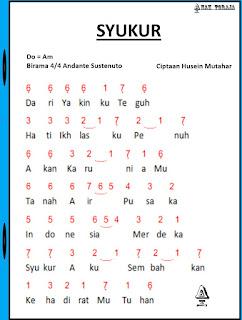 Partitur Lagu Syukur - H. Mutahar