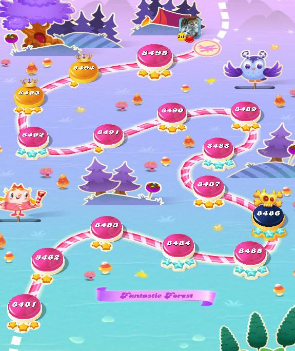 Candy Crush Saga level 8481-8495