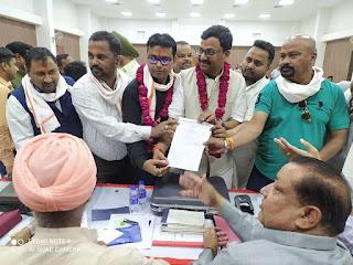 प्रदीप कुमार जैन ने उ0 प्र0 उद्योग व्यापार प्रतिनिधि मंडल के प्रदेश अध्यक्ष व उपाध्यक्ष के लिए किया नॉमिनेशन