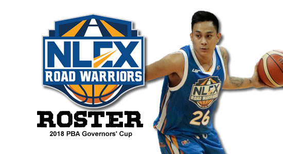 LIST: NLEX Road Warriors Roster 2018 PBA Governors' Cup