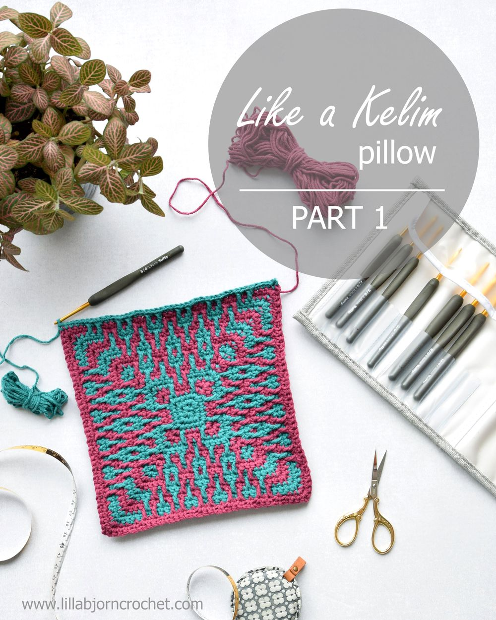 Like A Kelim Pillow Mosaic Crochet Pattern Part 1 Lillabjörn S Crochet World