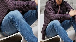 How to wear an open shirt, Men's long sleeve shirt