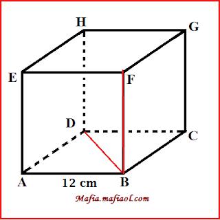 Kita ambil sebarang titik lain pada garis. Contoh Soal Cara Menghitung Jarak Titik Ke Garis Pada Kubus