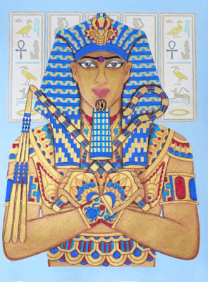 Golden Pharaoh adult coloring page
