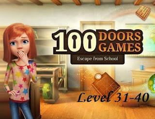 Jawaban 100 Doors Games Escape From School Level 31-40