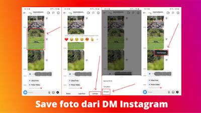 Cara menyimpan foto dari dm Instagram