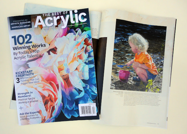 """Best of Acrylics Magazine with """"When She Was Three"""" painting by Judy Lavoie"""