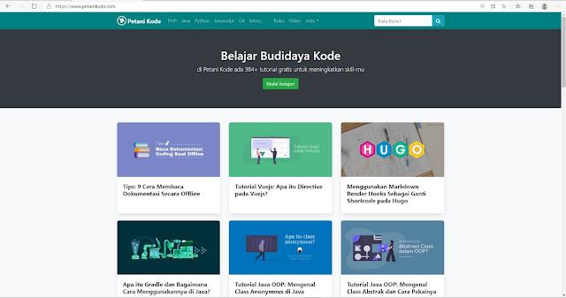 Tempat Belajar Coding Gratis : Petani Kode