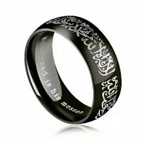 Cincin nikah titanium cincin tauhid cincin islam cincin hitam cincin tunanggan islam tauhid