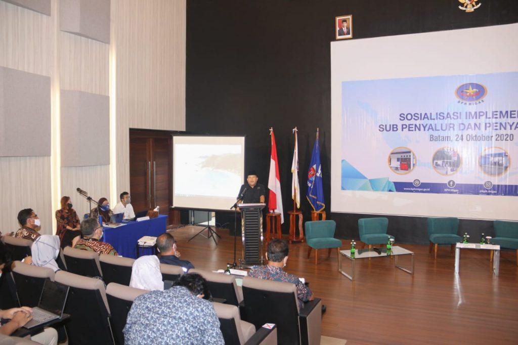 Pjs Walikota Batam Menghadiri Sosialisasi Implementasi Sub Penyalur dan Penyalur Mini