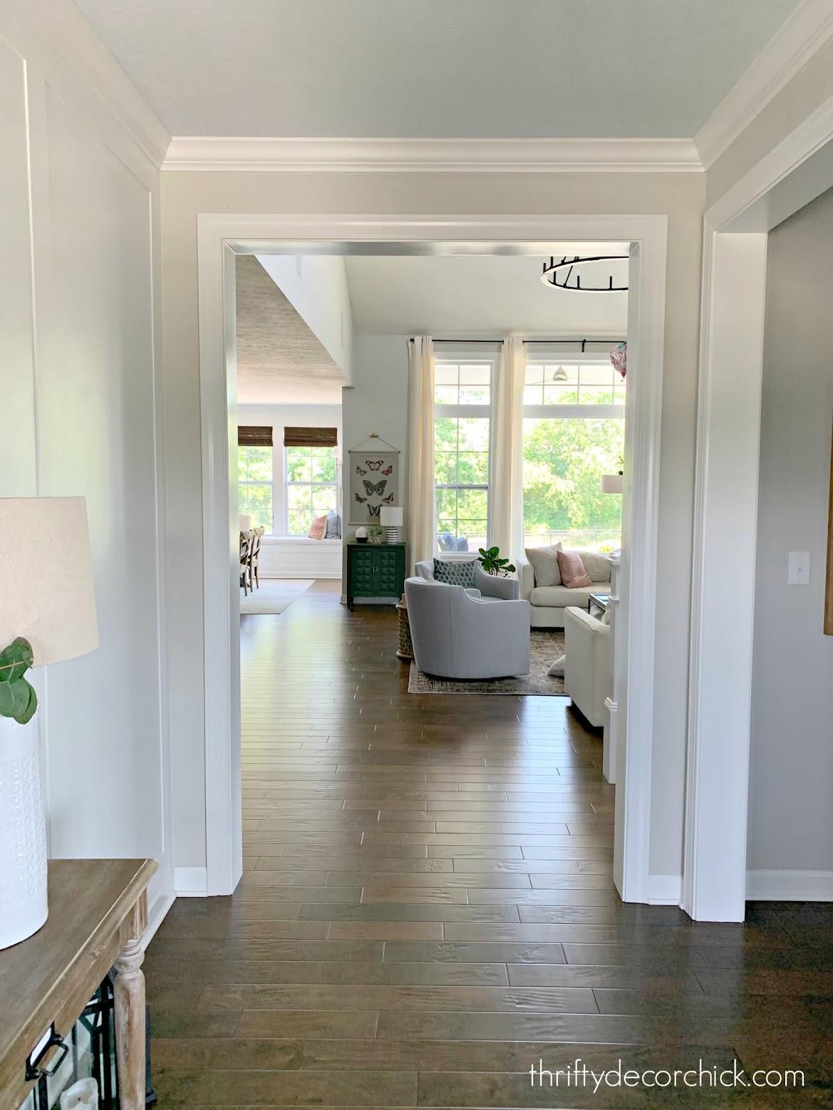 Replacing thin trim around doors