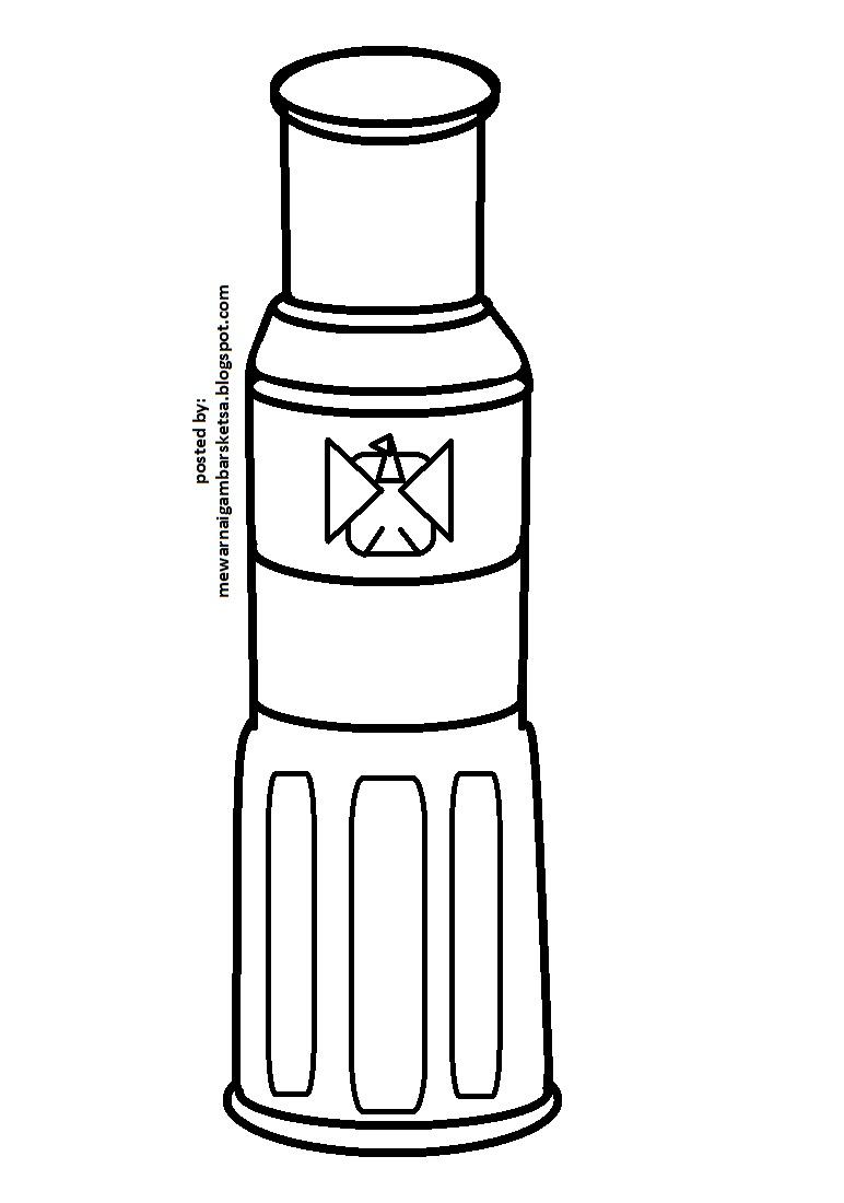 Kumpulan Sketsa Gambar Botol Minyak Wangi Aliransket