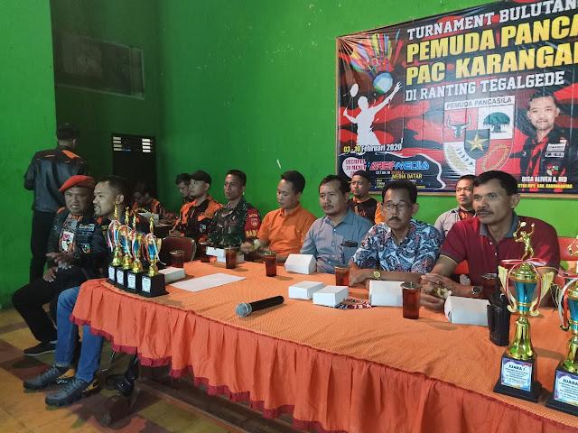 Kodim Karanganyar - Pembukaan Kejuaraan Bulutangkis Pemuda Pancasila PAC Karanganyar Cup I