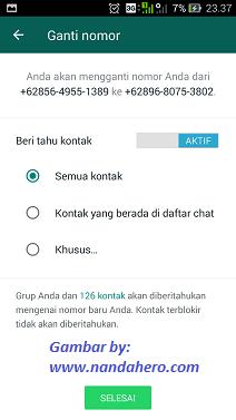 cara mengganti nomor wa yang sudah tidak aktif