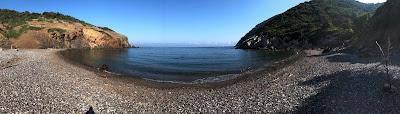 Panorama of Spiagga dei Mangani, Elba.