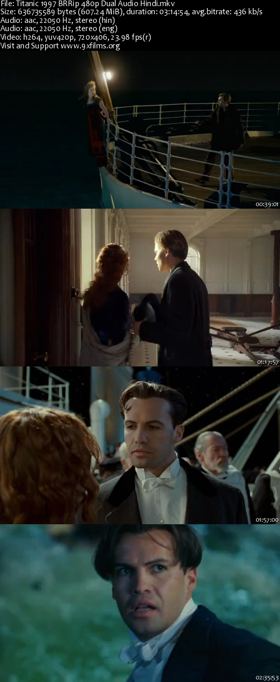 Titanic 1997 BRRip 480p Dual Audio Hindi