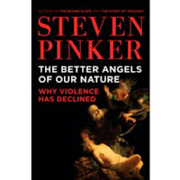 Book cover:  The Better Angels of Our Nature by Steven Pinker