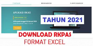 Contoh Format RKPAS Tahun 2020 Format Excel