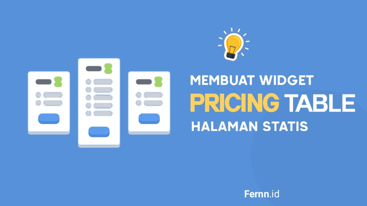 Cara Membuat Widget Pricing Plans Tables di Halaman Statis Blogger