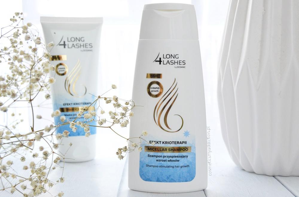 Efekt Krioterapii dzięki szamponowi i masce Long4Lashes - przyspieszające wzrost włosów