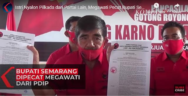 Istri Nyalon Pilkada dari Partai Lain, Megawati Pecat Bupati Semarang dan Anaknya dari PDIP
