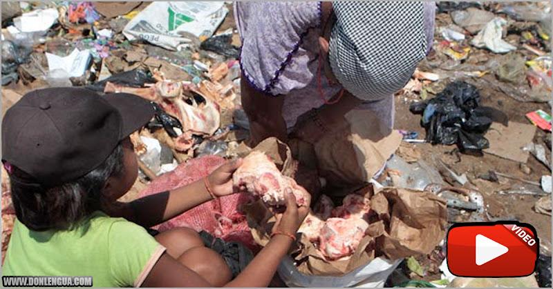 Venezolanos vuelven a la basura para deshuesar la carne podrida que pueden recoger