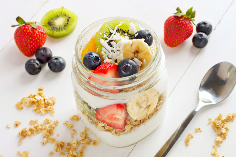 tropical fruit breakfast parfaits the busy baker