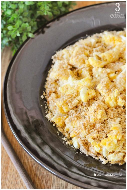 farofa de ovo com manteiga