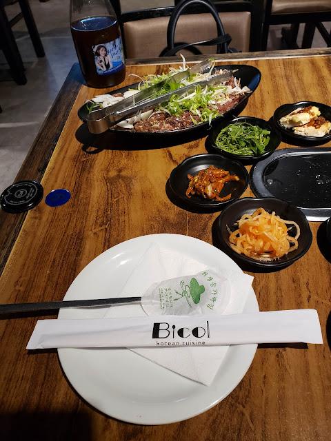 サンパウロの韓国料理プルコギセット