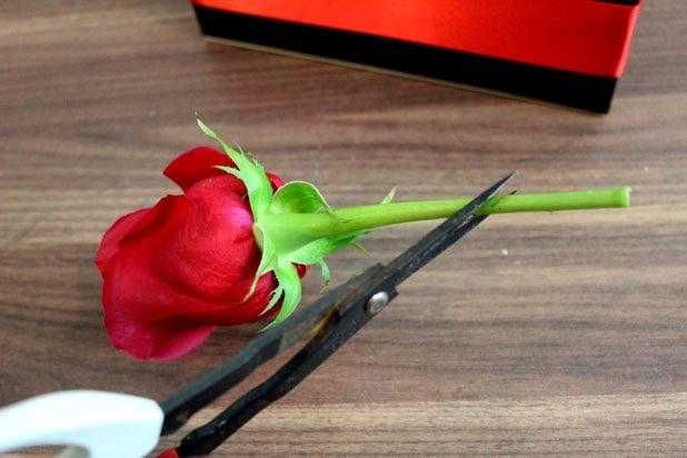 Özel gün için el yapımı romantik gül kutusu