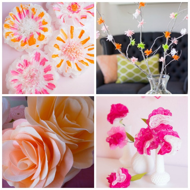 Thrifty diy encyclopedia flowers design improvised love these colorful paper flower crafts mightylinksfo