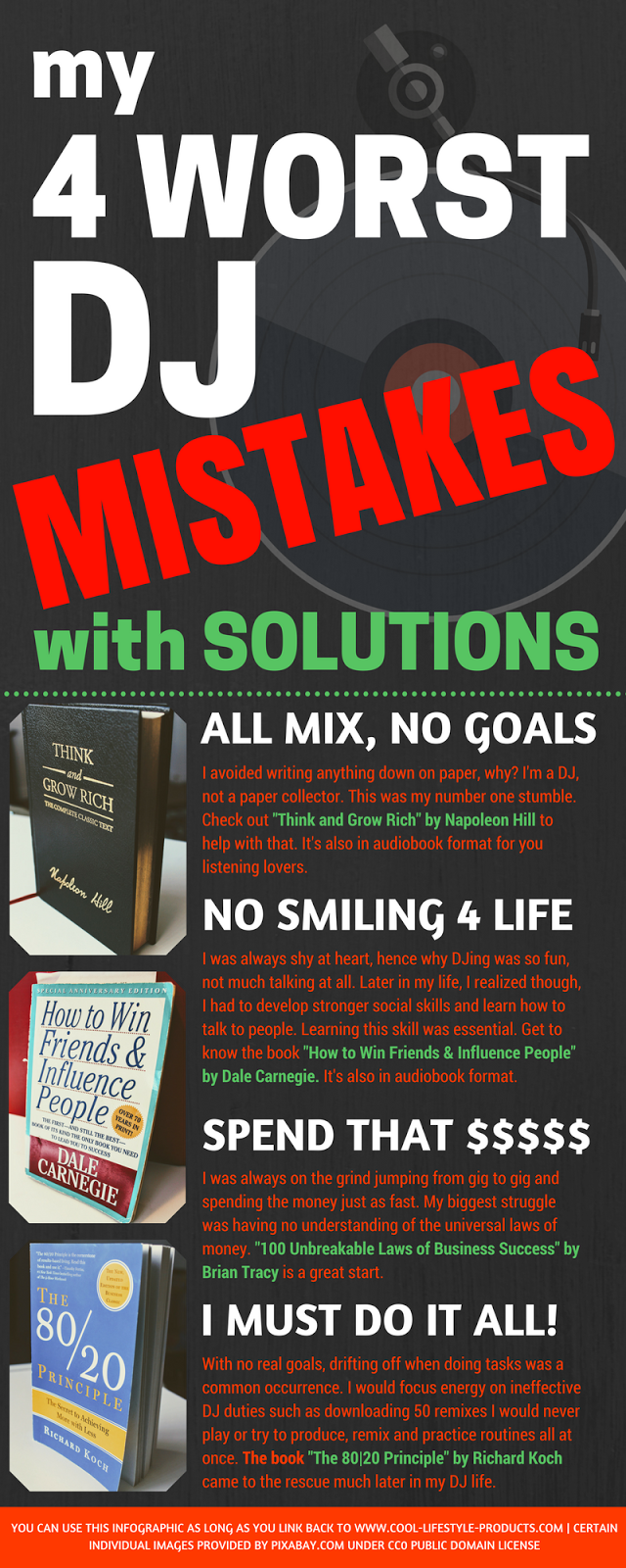 My 4 Worst DJ Mistakes with Solutions (Infographic)