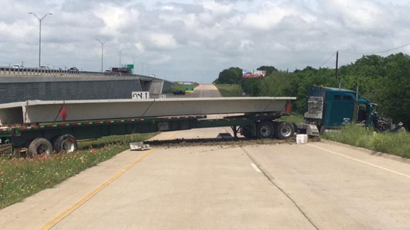 Big Rig Wreck Slows I-35 Traffic
