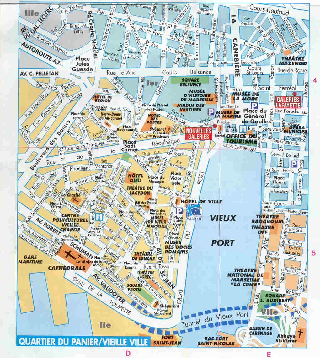 marselha mapa Mapas de Marselha   França   MapasBlog marselha mapa