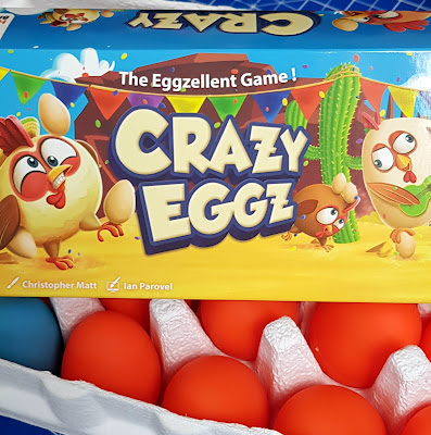 Crazy Eggz Family Game Review (Age 7+) Sent by Asmodee for the Blogger Board Game Club