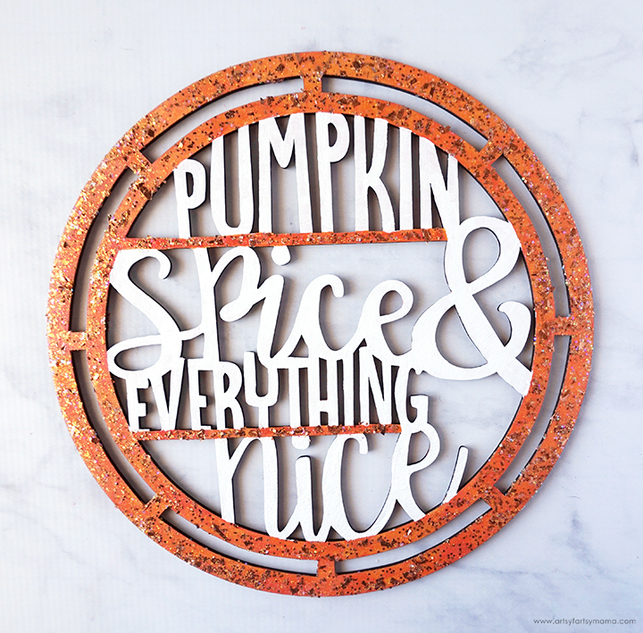 Painted Pumpkin Spice Sign