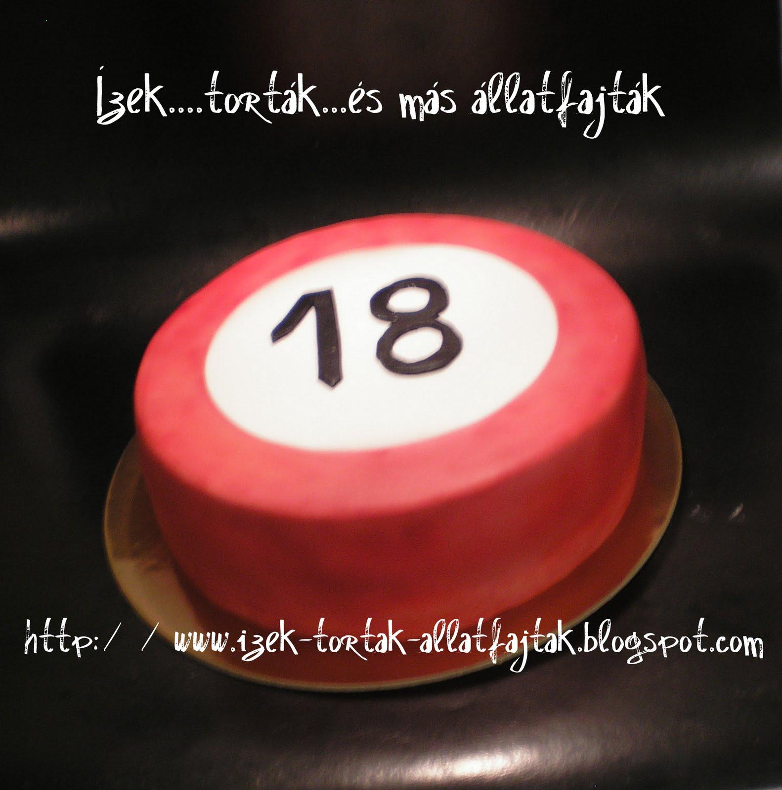 18 születésnapi torták Közlekedési tábla   torta 18 évesnek   GasztroBlogok.hu 18 születésnapi torták
