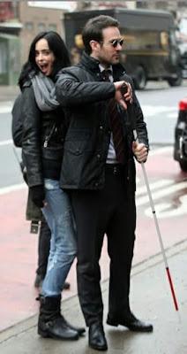 Jessica Jones and Matt Murdock Defenders Filming
