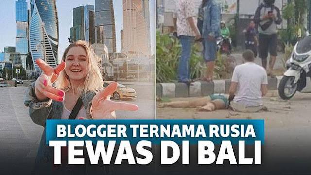 Kronologi Blogger Cantik Rusia Tewas Mengenaskan di Bali