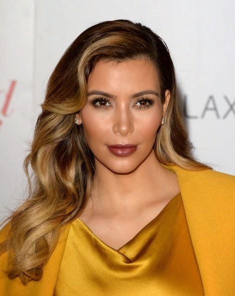 Kim Kardashian Long Hairstyles Retro Hairstyle