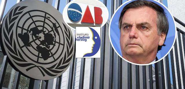 Resultado de imagem para OAB e Instituto Herzog vao denunciar Bolsonaro na Onu por apoiar ditadura