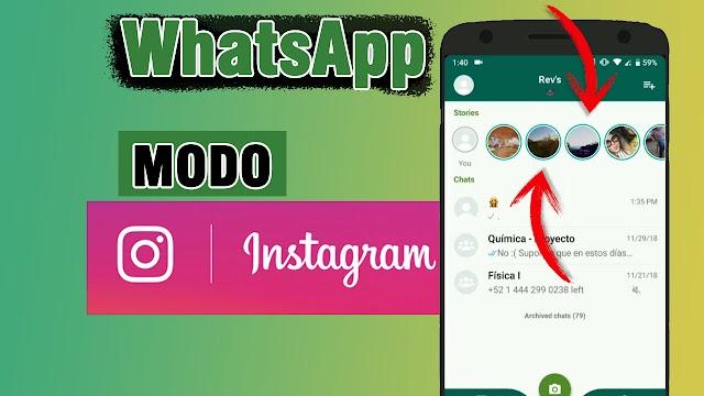 Actualiza tu WhatsApp al estilo de Instagram