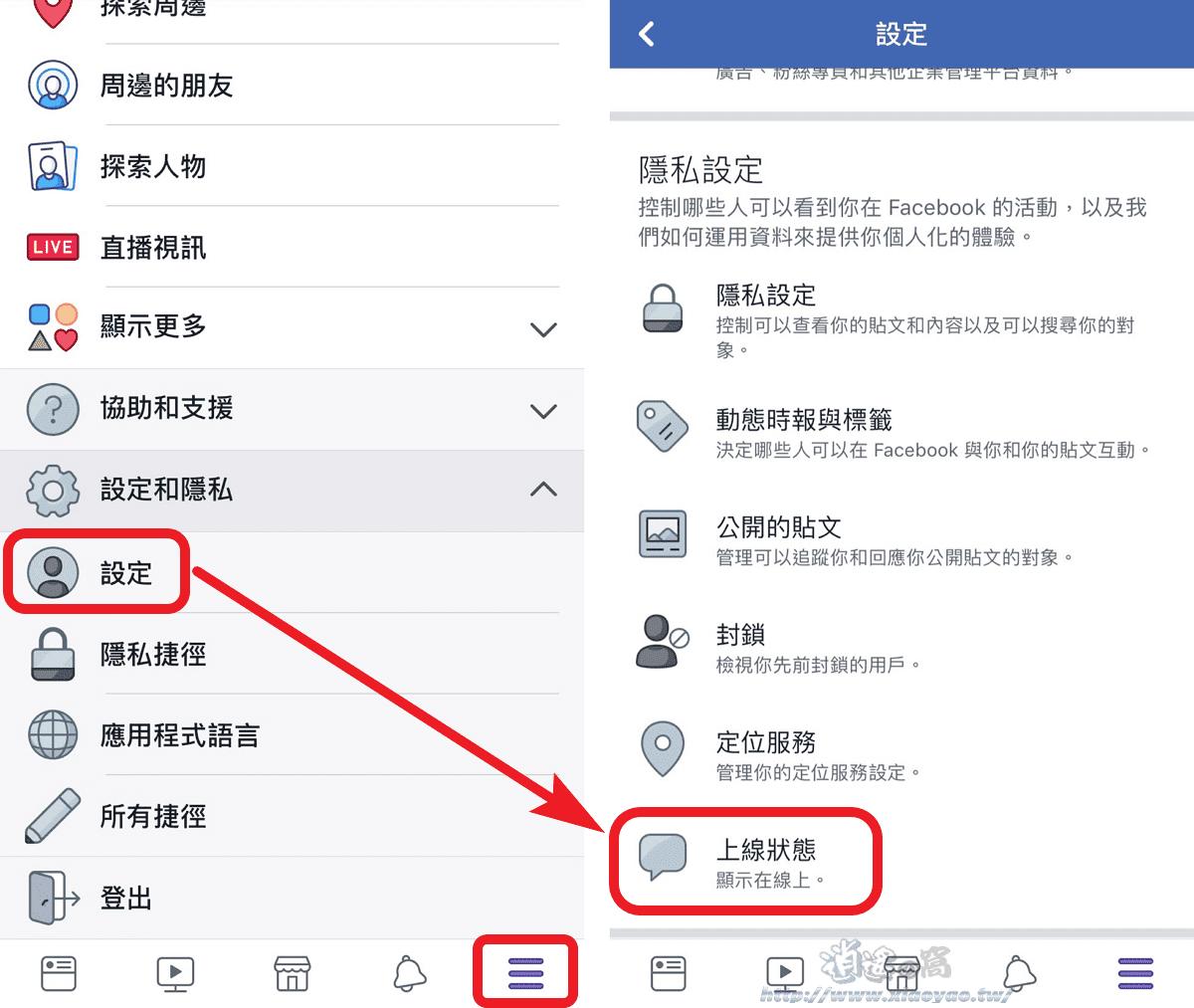 如何關閉 Facebook、Instagram 上線狀態。隱藏最近上線時間 - 逍遙の窩