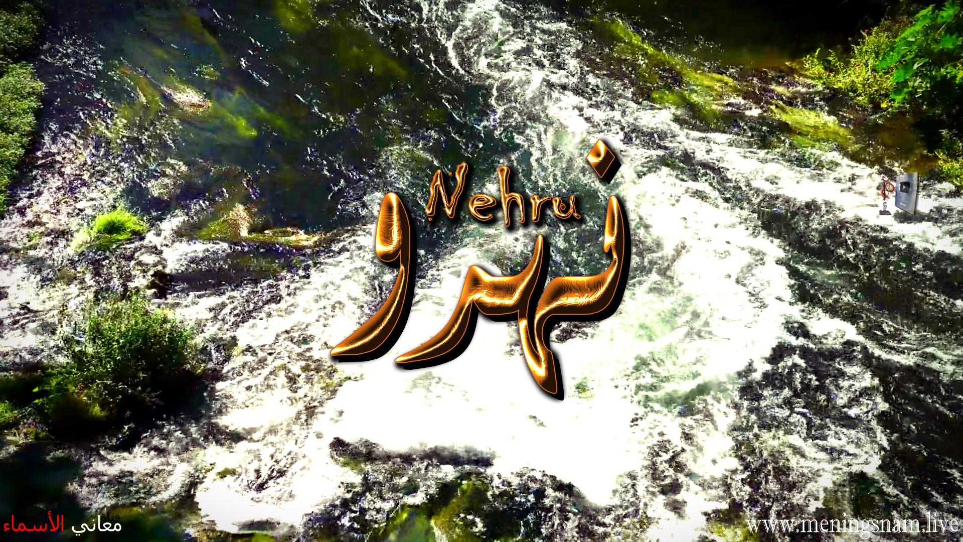 معنى اسم نهرو وصفات حامل هذا الاسم Nehru