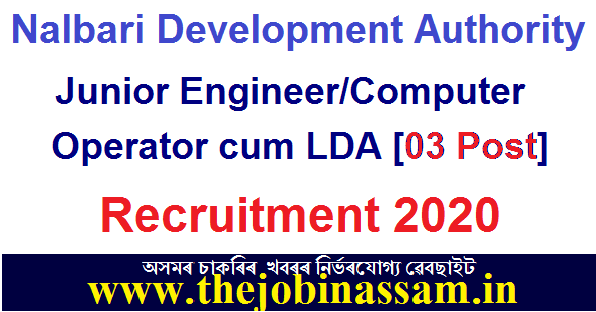 Nalbari Development Authority Recruitment 2020