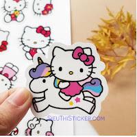 sticker mèo hồng hello kitty